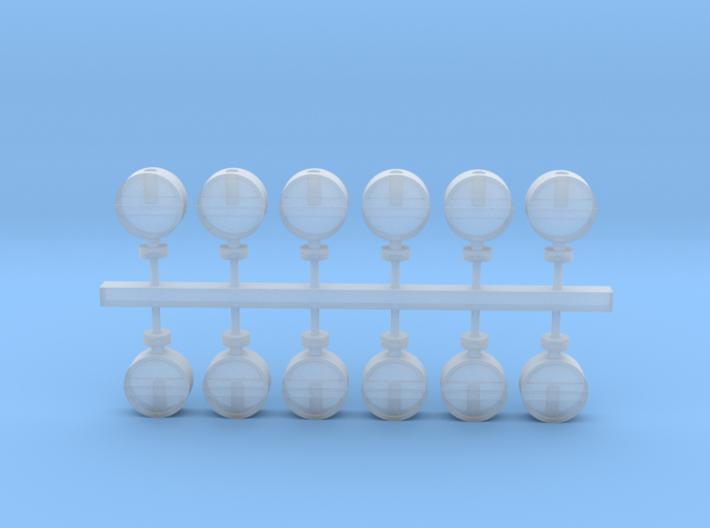 12 Lampenkästen für bayerische Sperrsignale 3d printed
