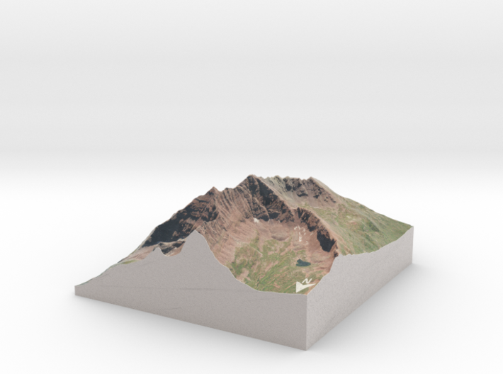 "Maroon Bells Map: 6"" 3d printed"