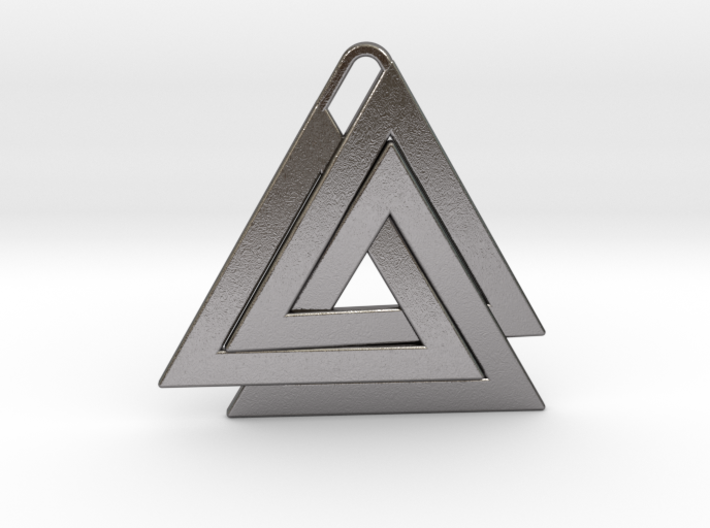 Valknut Pendant - Viking Symbol 3d printed