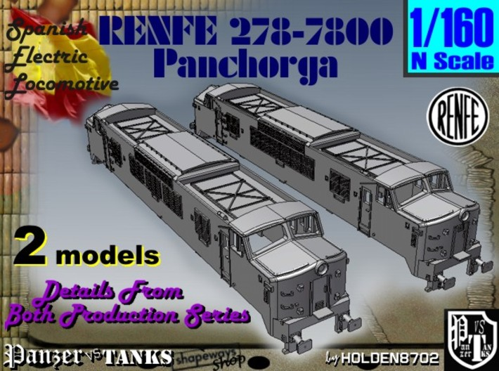 1-160 Renfe 7800 Panchorga Early + Late Types 3d printed