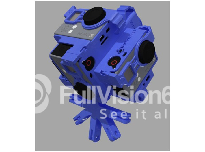 FULLVISION6: Spherical Panorama 6 GoPro Mount $299 3d printed Spherical Panorama GoPro Mount Tiny Planet Accessories Cases 360 3d 360 3d video 360* 360 panoramic 360hero 360heros 360x180 6 gopro 6 gopros camera CAMS approved capture life drone flying gear gopro gopro 3 gopro black edition gopro holder gopro mount go