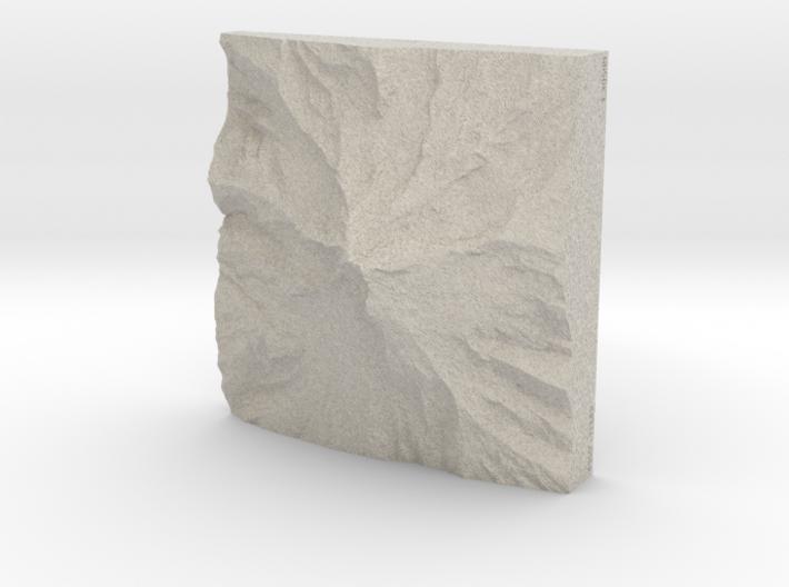 8'' Mt. Hood, Oregon, USA, Sandstone 3d printed