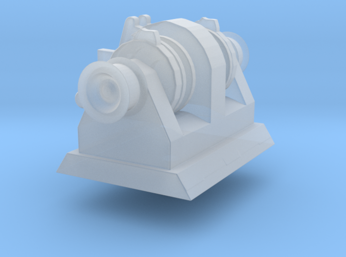 Anchor Winch for small vessels (1:200)  3d printed render