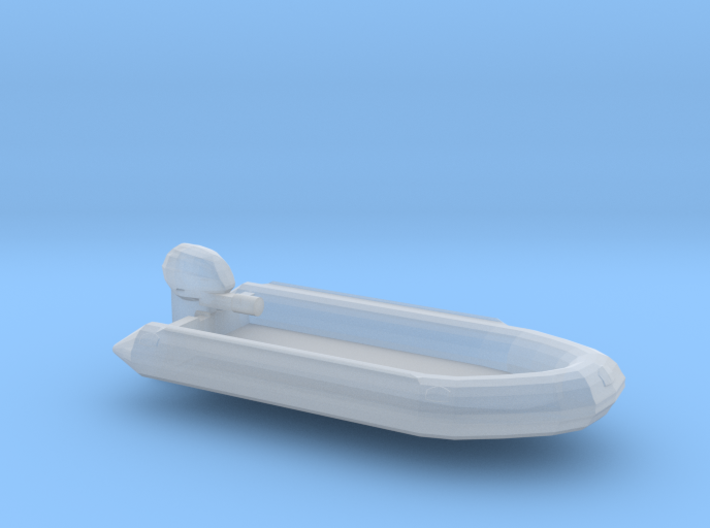 Classic RHIB, with outboard engine (1:200) 3d printed