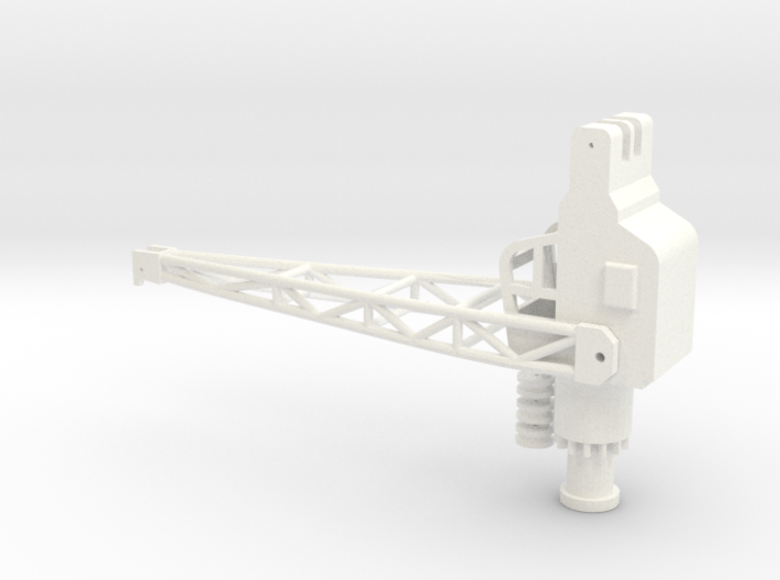 3 to ship crane, movable, 1:200 scale 3d printed