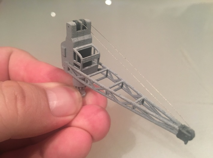 3 to ship crane, movable, 1:200 scale 3d printed assembled crane
