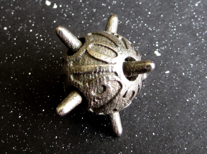 Sputnik Die10 3d printed In Stainless Steel