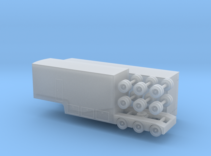 N scale 1/160 V8 Supercar Racing Transporter B-Tra 3d printed