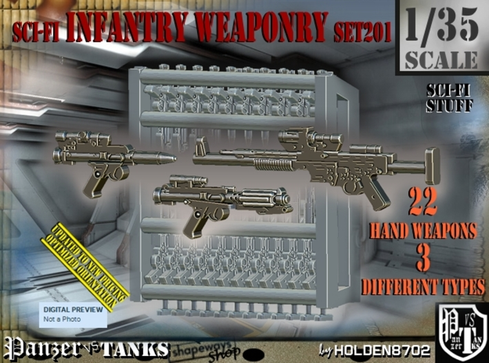1/35 Sci-Fi Infantry Weaponry Set201 3d printed