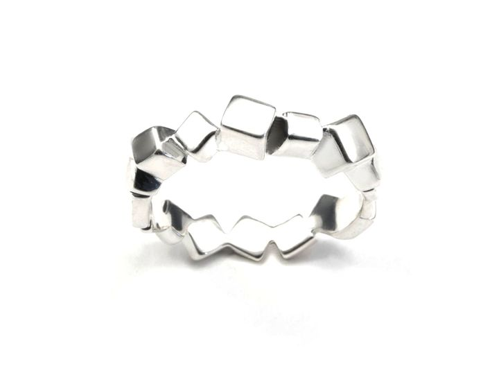 Ring Mary Double Prisms  3d printed Prism ring