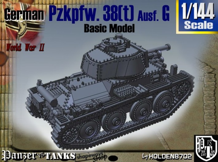 1-144 2x Basic PzKpfw 38t Ausf G 3d printed