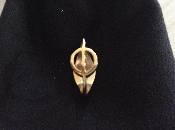 Phyrexia vs. Mirran Ring 3d printed Polished Brass