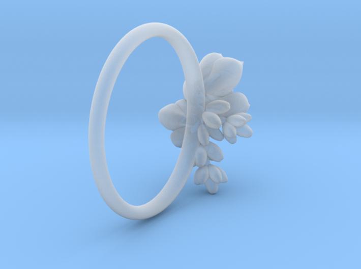 Botanical Cluster Ring 3d printed