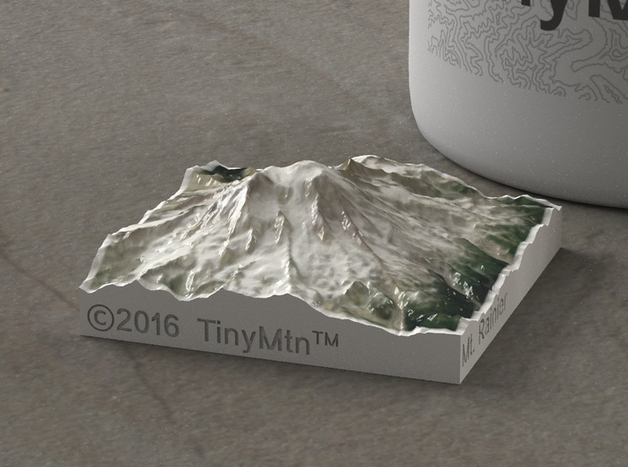 Mt. Rainier, Washington, USA, 1:250000 Explorer 3d printed
