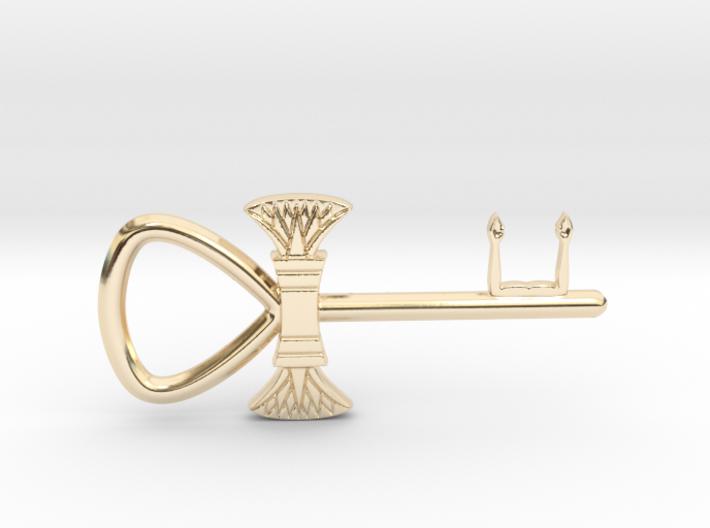 "3"" Ankh 'kA' key votive (lotus version) 3d printed"