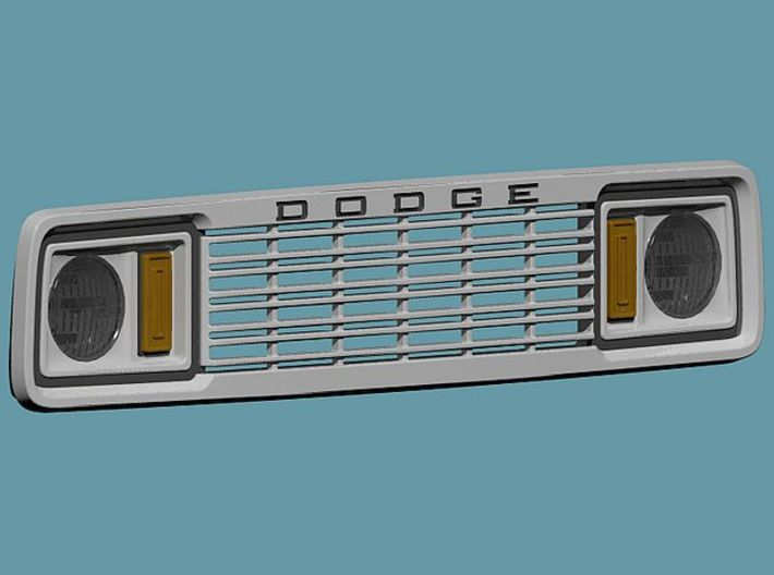 1/24 1977 Dodge Ramcharger Grill 3d printed rendering of the assembled grill