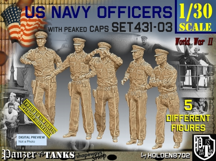 1/30 USN Officers Set431-03 3d printed