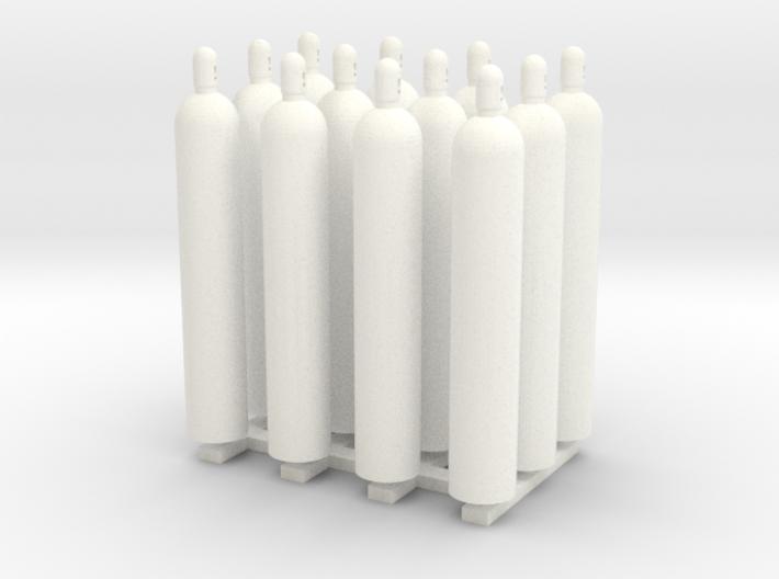 1:48 Gas Cylinders Pack of twelve 3d printed