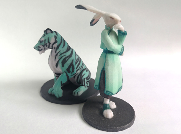 Jade Rabbit 3d printed next to Tiger for reference. They look great together!