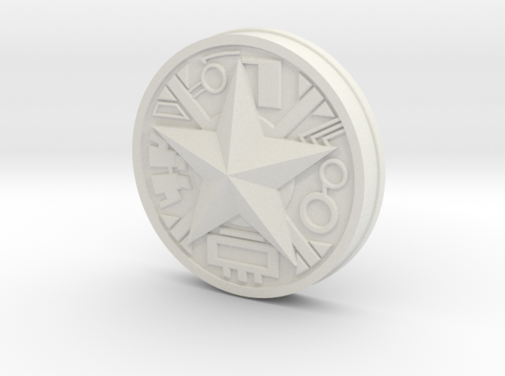Zeo Ranger Legacy Power Coin 3d printed
