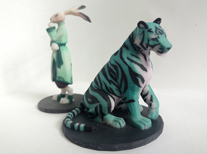 Tiger 3d printed Shown next to the Jade Rabbit for scale. They look great together
