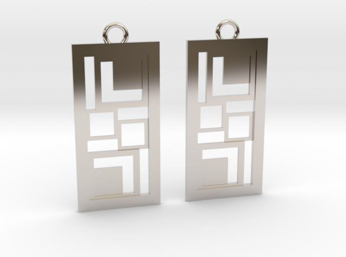 Geometrical earrings no.3 3d printed