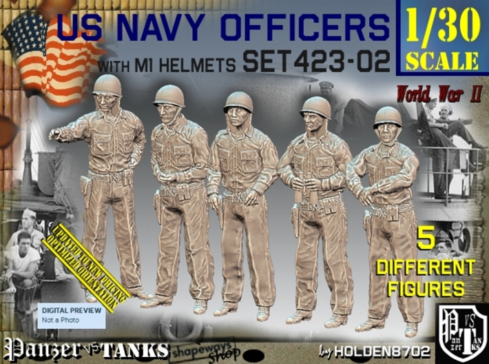 1/30 USN Officers Set423-02 3d printed