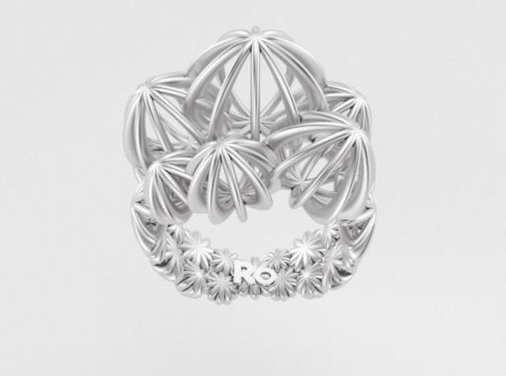 Sea ​​Urchin Ring 3d printed Ring Sea Urchin Silver