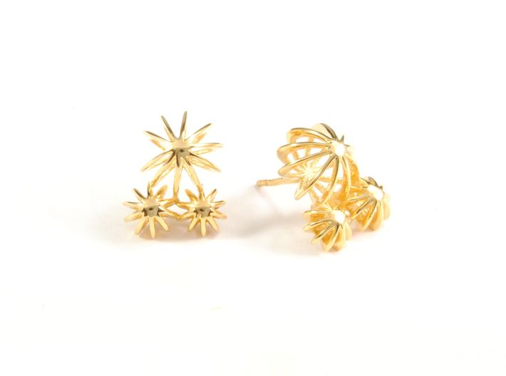 Sea ​​Urchin Earring Triple 3d printed