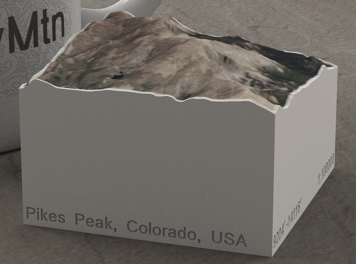 Pikes Peak, Colorado, USA, 1:100000 Explorer 3d printed