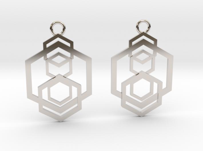 Geometrical earrings no.5 3d printed