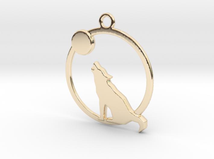Wolf & moon 3d printed