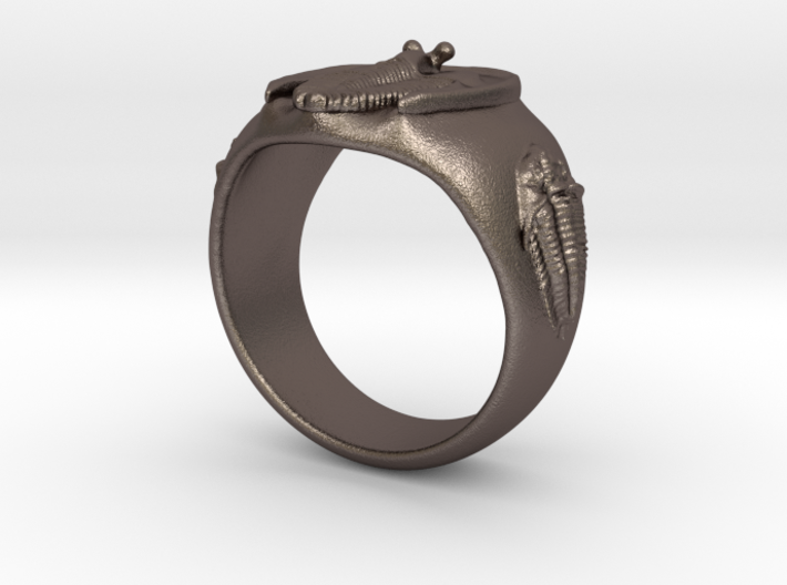 Trilobite Fossil Ring 3d printed