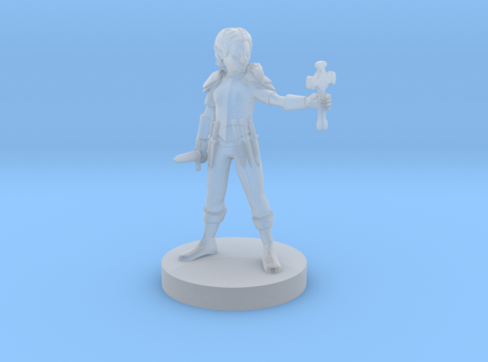 Gnome Female Cleric with Holy Symbol 3d printed