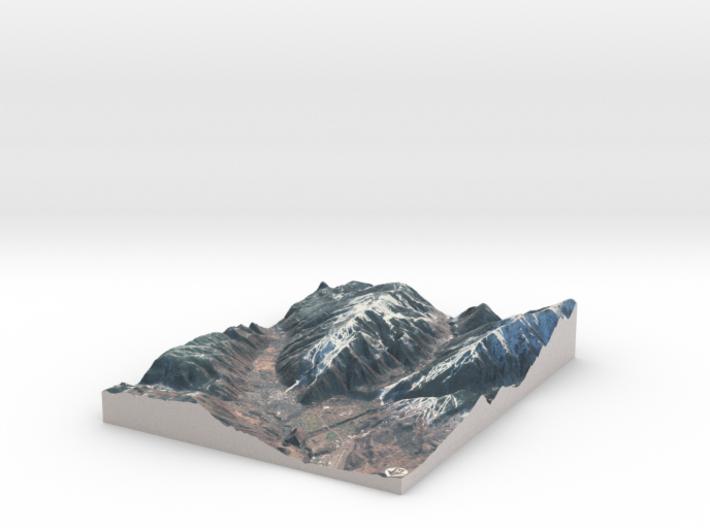 "Aspen, Colorado Winter: 8""x10"" 3d printed"