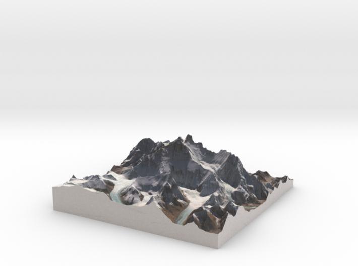 "Mount Everest: 6""x6"" 3d printed"