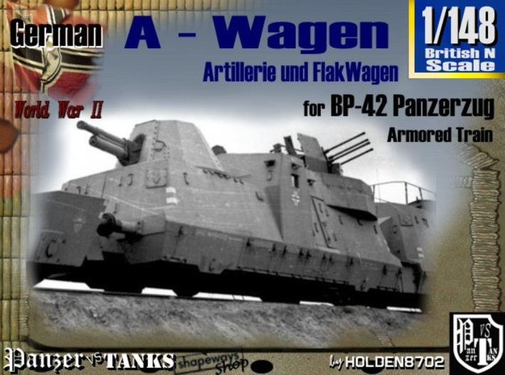 1-148 2x A-Wagen For BP-42 3d printed