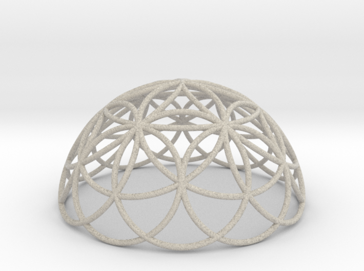 3D 100mm Half Orb of Life (3D Flower of Life) 3d printed