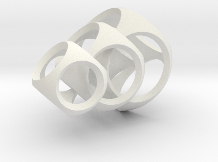 Intersecting Spheres - Pendant 3d printed
