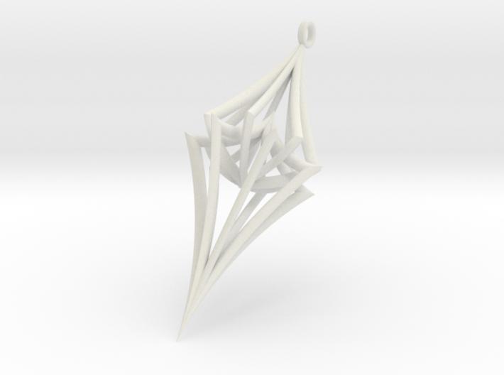 Colliding Stars - Pendant 3d printed