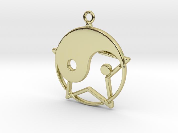 Yin-Yang and star intertwined 3d printed