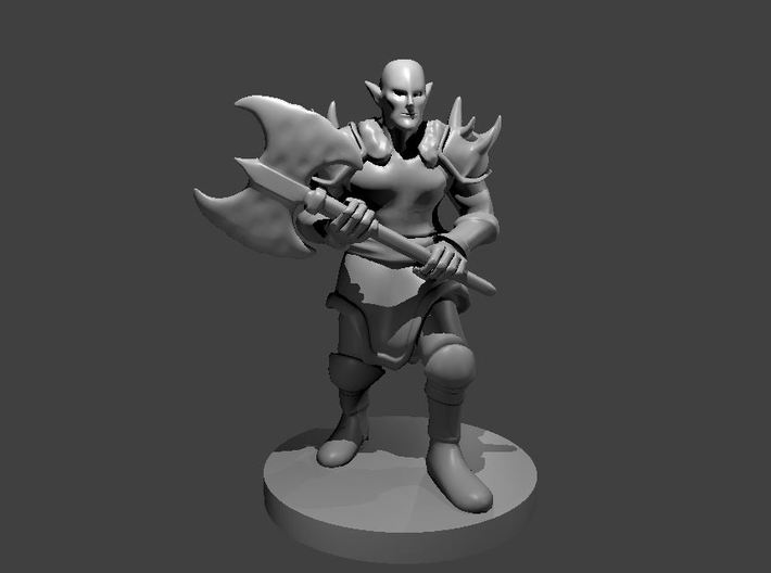 Elven Barbarian 3d printed