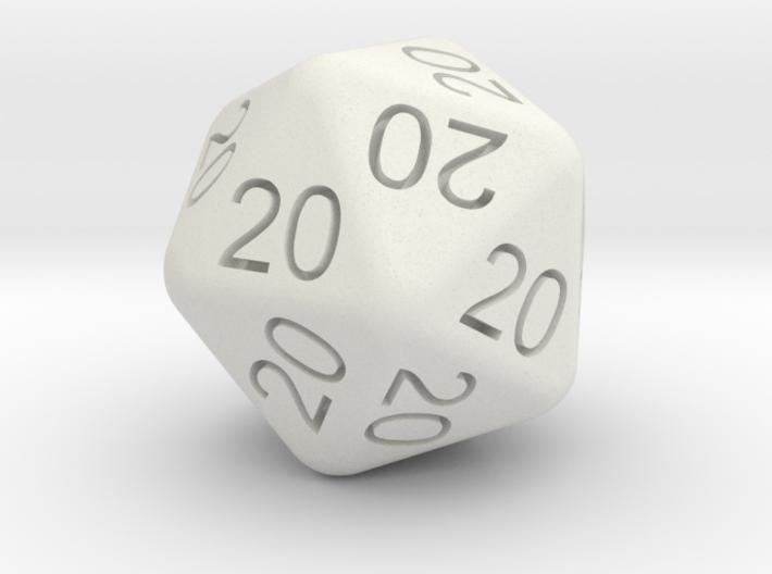20 Dice of 20s 3d printed