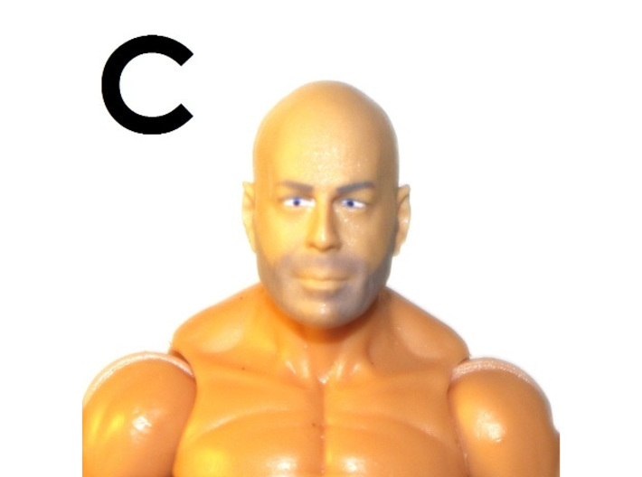 """1:18 Scale Action Figure MALE Neck Barbell Adapter 3d printed Peg """"C"""" Sample"""