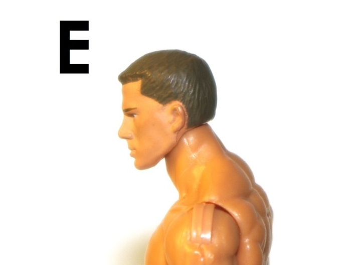 """1:18 Scale Action Figure MALE Neck Barbell Adapter 3d printed Peg """"E"""" Sample"""