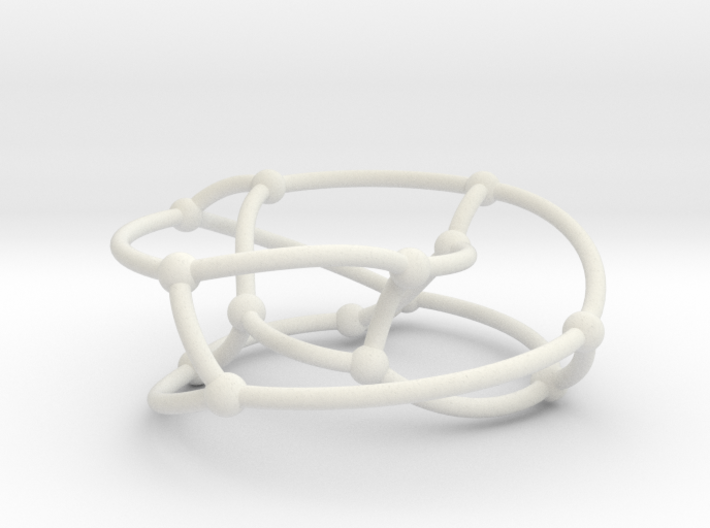 Heawood graph on torus 3d printed