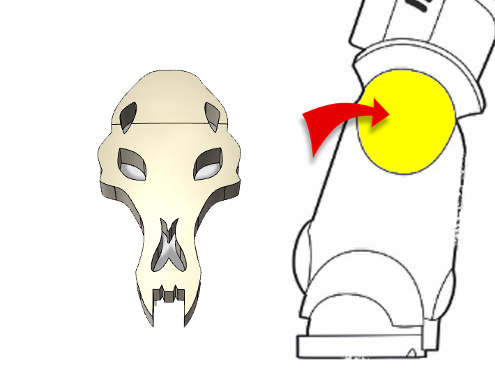 20x Wolf Skull : Small Concave Insignias 3d printed