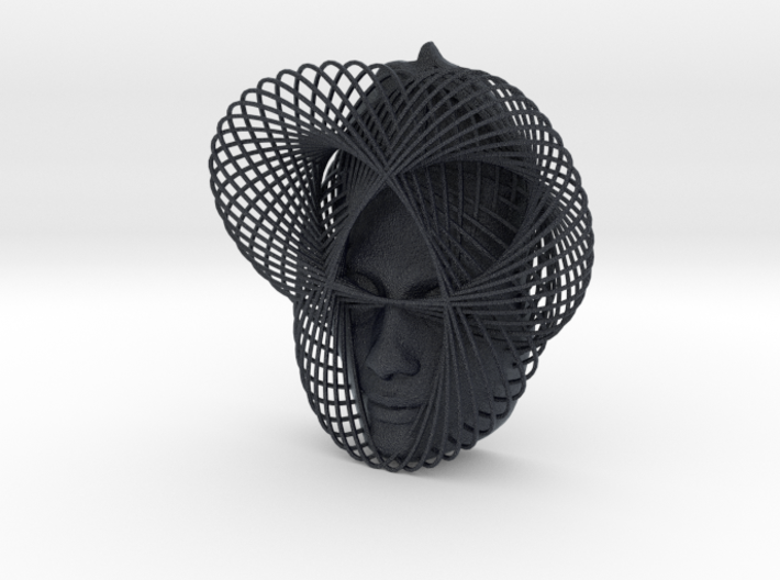 Wire Curve Art + Nefertiti (002a) 3d printed