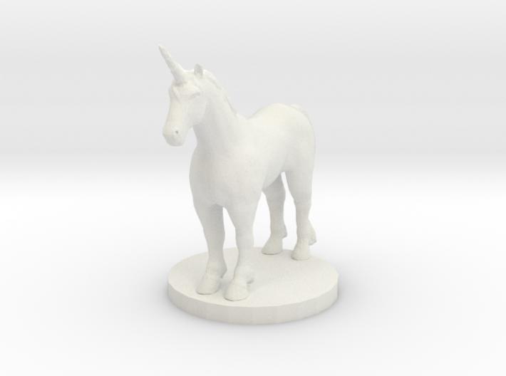 Standing Unicorn 3d printed