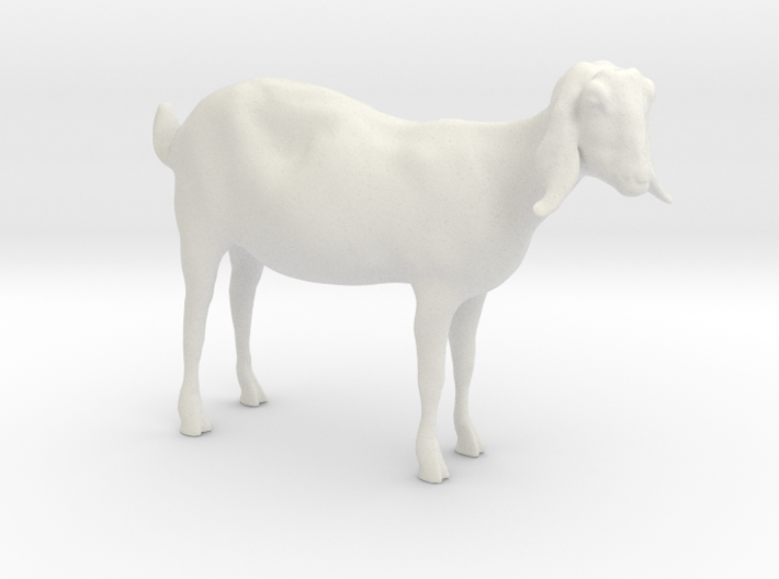 3D Scanned Nubian Goat - 1:12 scale (Hollow) 3d printed